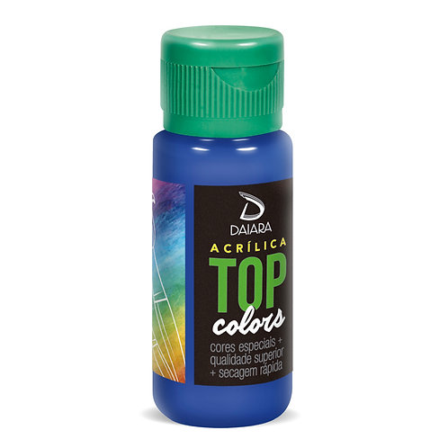Tinta Acrílica Top Colors 60ml - 54 Azul Safira
