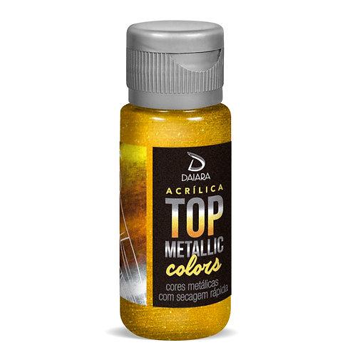 Tinta Acrílica Top Metallic Colors 60ml - 238 Ouro Solar