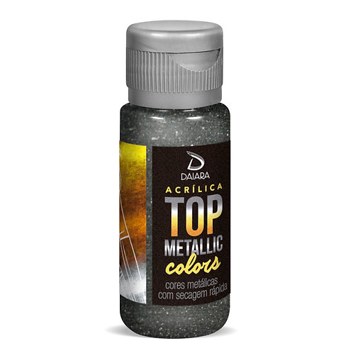 Tinta Acrílica Top Metallic Colors 60ml - 230 Grafite