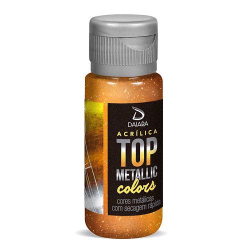 Tinta Acrílica Top Metallic Colors 60ml  - 243 Ouro Rico