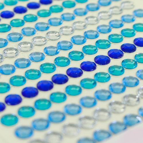 Adesivo de Acrílico - Chatons Azulados