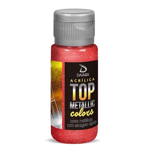 Tinta Acrílica Top Metallic Colors 60ml - 211 Vermelho Antigo