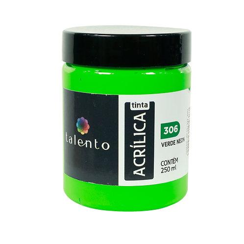 Tinta P/Tela Neon 306 - Verde 250ml
