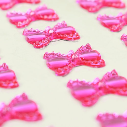 Adesivo de Acrílico - Laços Pink
