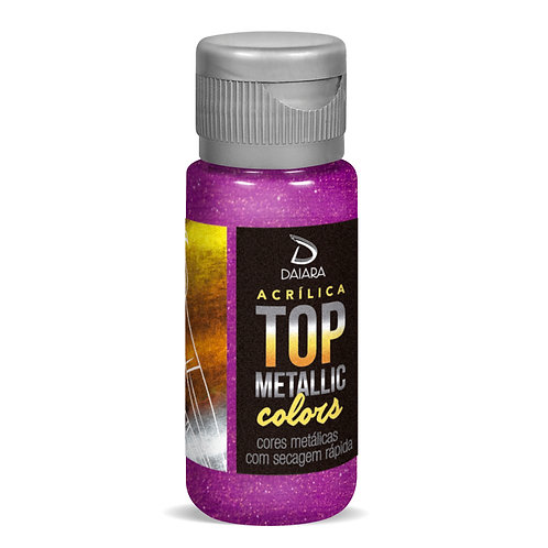 Tinta Acrílica Top Metallic Colors 60ml - 217 Roxo