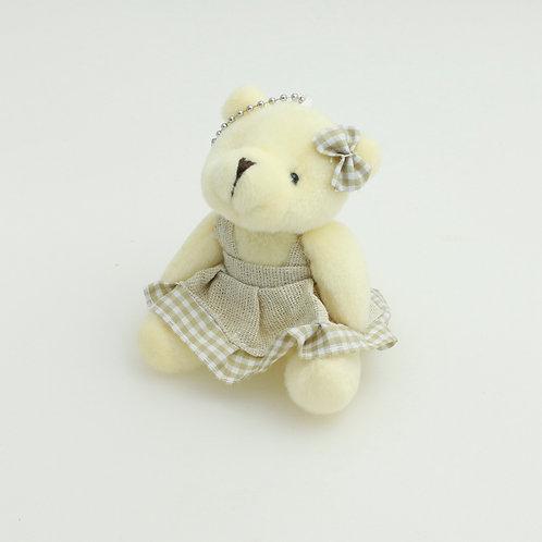 3368 - Ursa de Vestido 8cm Chaveiro