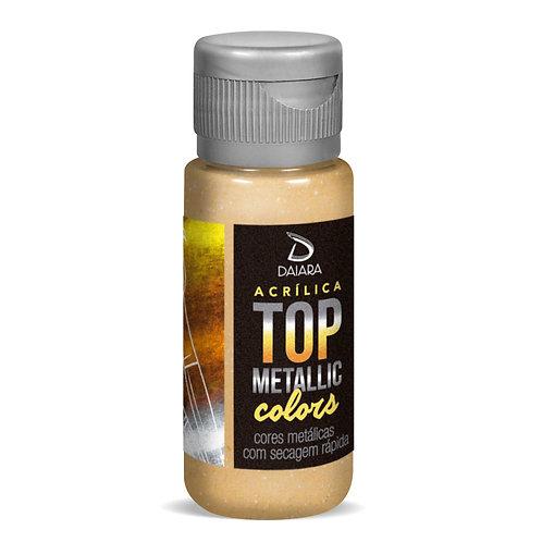 Tinta Acrílica Top Metallic Colors 60ml - 234 Dourado Pálido