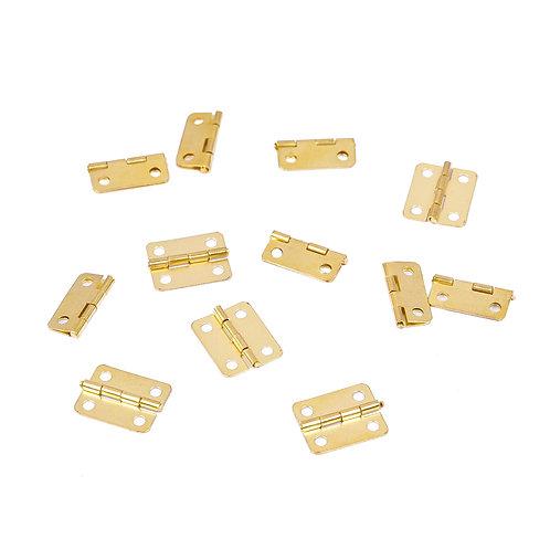 Mini Dobradiça Ouro 9999 - 10 un.