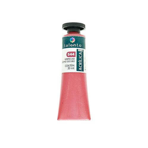 Tinta P/Tela 544 - Verm. Cadmio Escuro  20ml