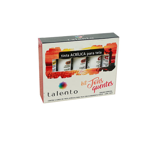 Kit Tons quentes 20ml  - 5 cores