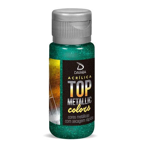 Tinta Acrílica Top Metallic Colors 60ml - 225 Verde Araucária