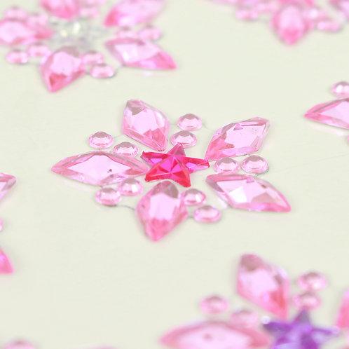 Adesivo de Acrílico - Estrelas Rosa Claro