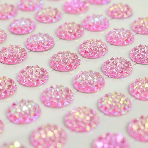 Adesivo de Acrílico - Chatons Texturizados Rosa