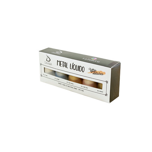 Kit Metal Líquido 37ml - 5 cores