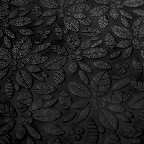 Papel Velutto - Folhas e Frutos Preto