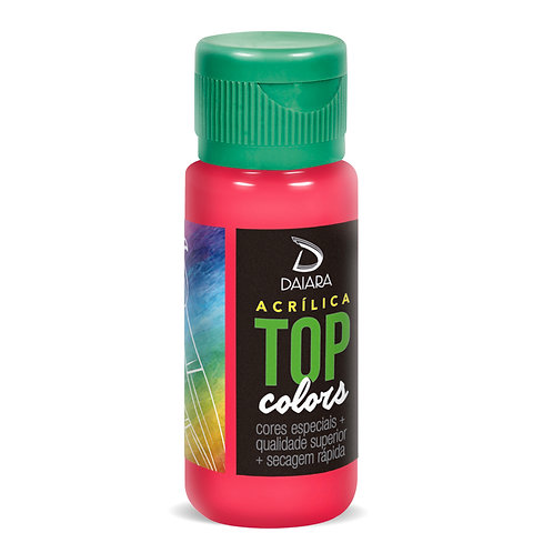 Tinta Acrílica Top Colors 60ml - 40 Laca Rosa