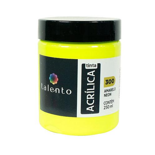 Tinta P/Tela Neon 300 - Amarelo 250ml