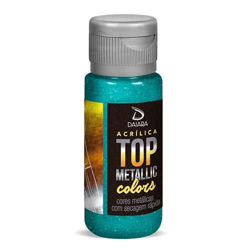 Tinta Acrílica Top Metallic Colors 60ml - 222 Azul Sereia