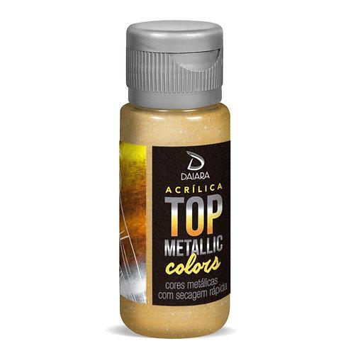 Tinta Acrílica Top Metallic Colors 60ml - 235 Dourado Egípcio