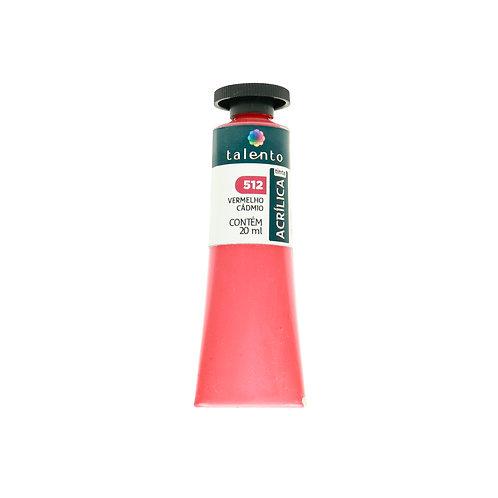 Tinta P/Tela 512 - Vermelho Cadmio 20ml