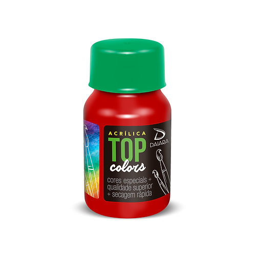 Tinta Acrílica Top Colors 37ml - 29 Vermelho