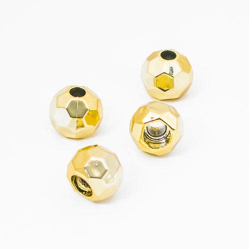 Pezinhos Plásticos Dourados - Bola - 4 un