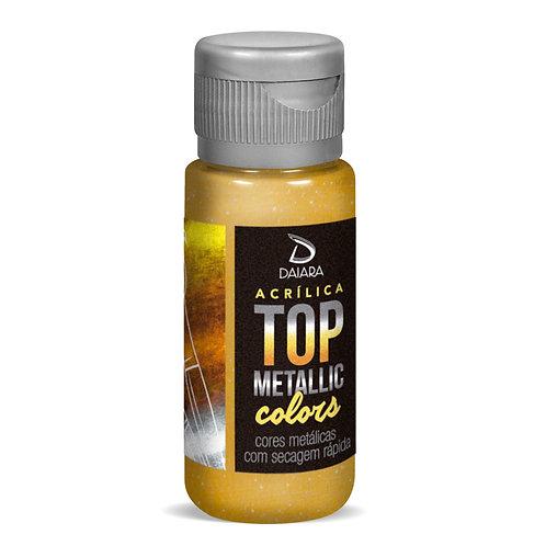 Tinta Acrílica Top Metallic Colors 60ml - 236 Dourado Maia
