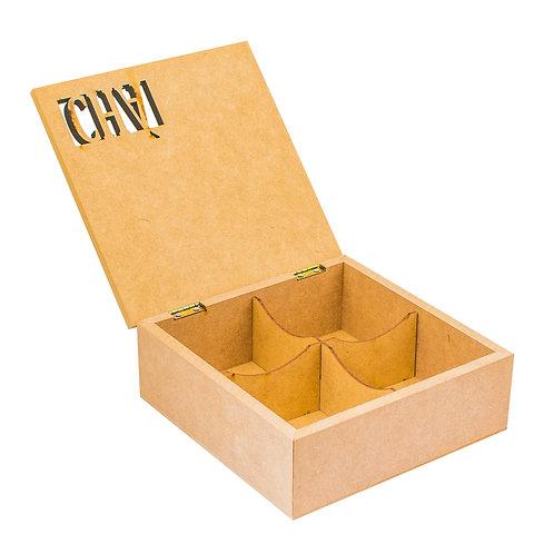 Caixa de MDF Porta Chá com recorte