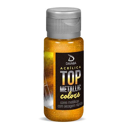 Tinta Acrílica Top Metallic Colors 60ml/250ml - 240 Ouro Barroco