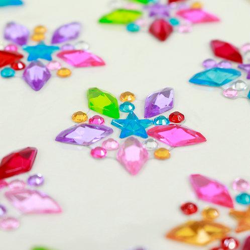 Adesivo de Acrílico - Estrelas Coloridas