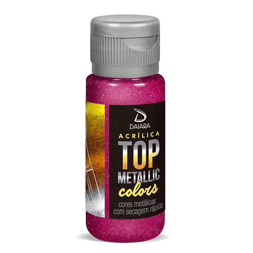 Tinta Acrílica Top Metallic Colors 60ml - 215 Magenta