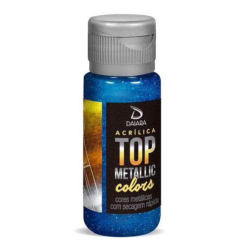 Tinta Acrílica Top Metallic Colors 60ml - 221 Azul Forte