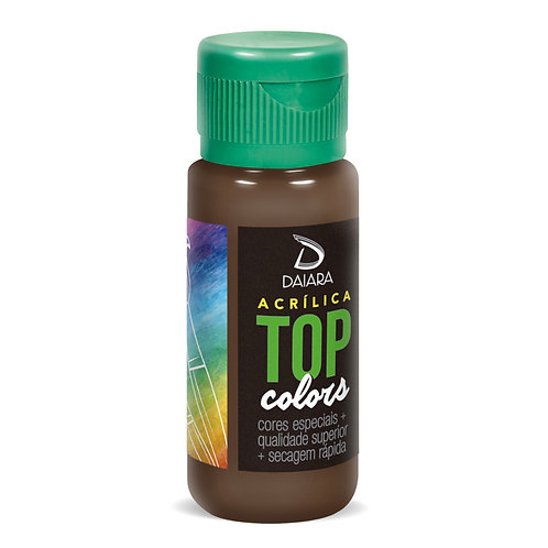 Tinta Acrílica Top Colors 60ml - 91 Imbuia