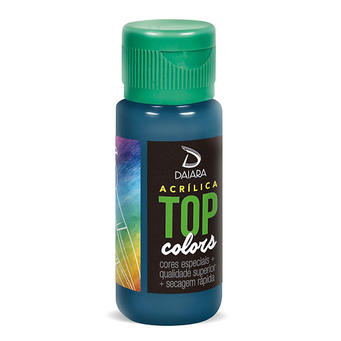 Tinta Acrílica Top Colors 60ml - 62 Azul Colonial