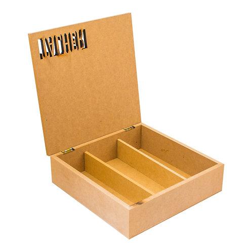 Caixa Porta Talher de MDF com recorte