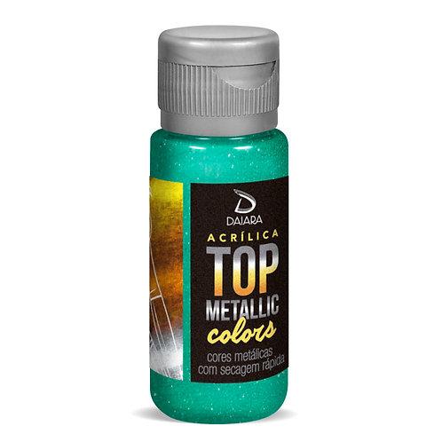 Tinta Acrílica Top Metallic Colors 60ml - 223 Verde Turquesa