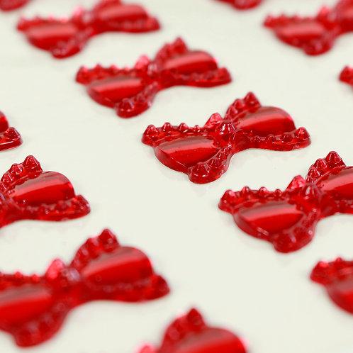 Adesivo de Acrílico - Laços Vermelho