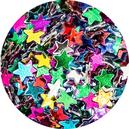 Lantejoula Estrelinha - Multicoloridas 14g