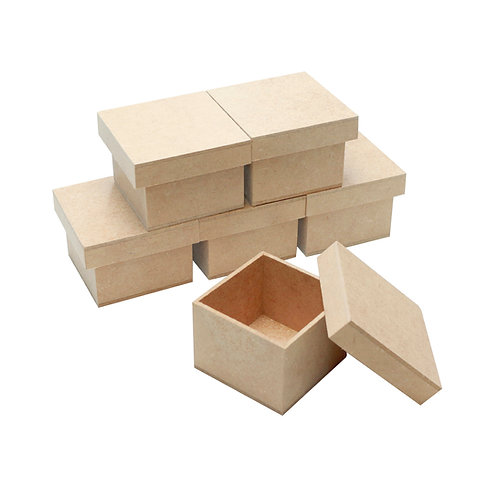 Kit Caixa MDF 7x7x5 cm c/6un