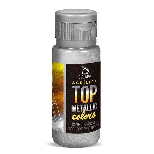 Tinta Acrílica Top Metallic Colors 60ml - 232 Prata