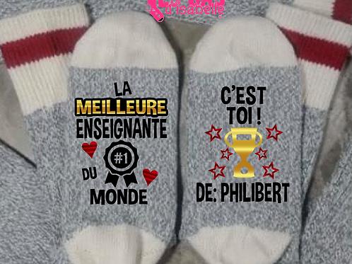 LA MEILLEURE ENSEIGNANTE DU MONDE C'EST TOI!