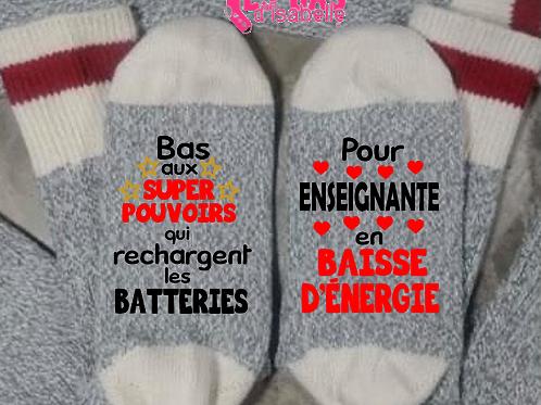 BAS SUPER POUVOIRS POUR ENSEIGNANTE BAISSE D'ÉNERGIE