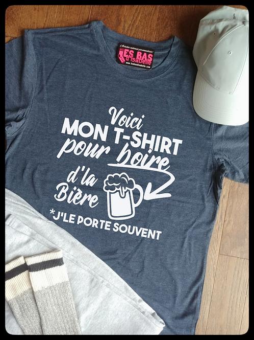 VOICI MON T-SHIRT POUR BOIRE D'LA BIÈRE