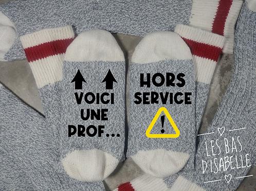VOICI UNE PROF HORS SERVICE