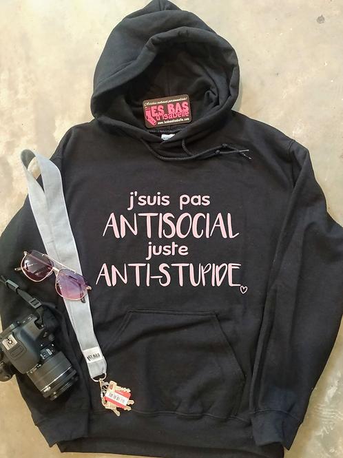 J'SUIS PAS ANTISOCIAL JUSTE ANTI-STUPIDE