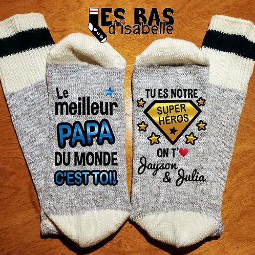LE MEILLEURE PAPA DU MONDE C'EST TOI SUPER HÉROS