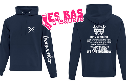 60$ COMMANDE SPÉCIALE HOODIE LUDOVIC IRONWORKER 60$
