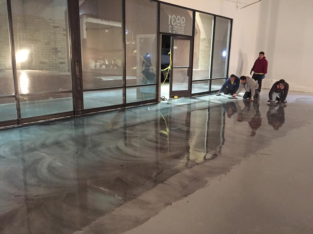 Treating floors in Las Vegas Venue