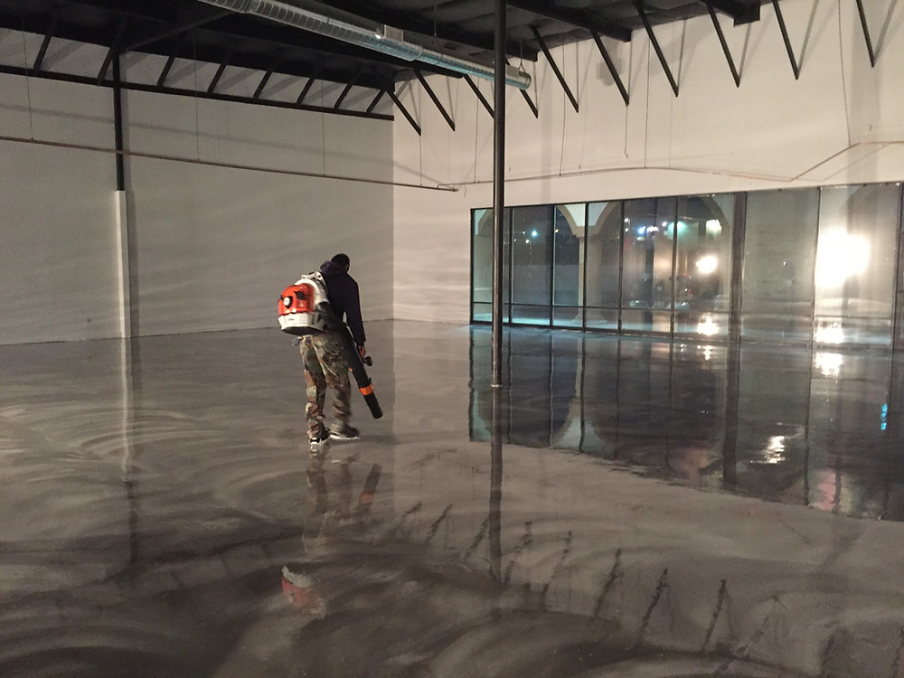 Treated concrete floors in Las Vegas Venue