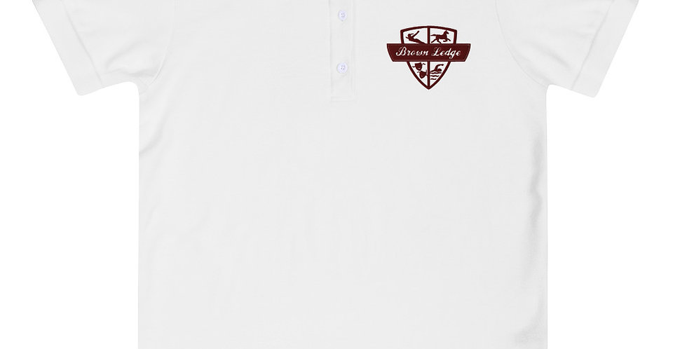 Brown Ledge Crest Women's Embroidered Polo Shirt